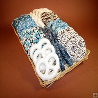 Assorted Pretzels and Pretzel Sticks-Blue
